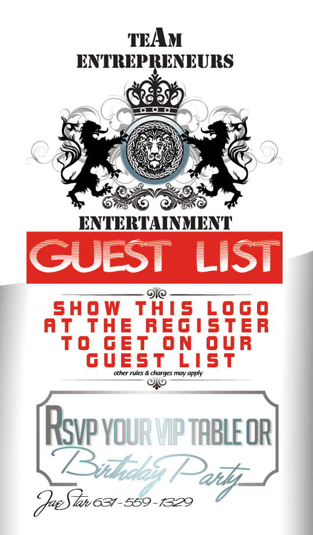 Show this logo at the register at Club Glazz to get on our guest list !!! easy as that