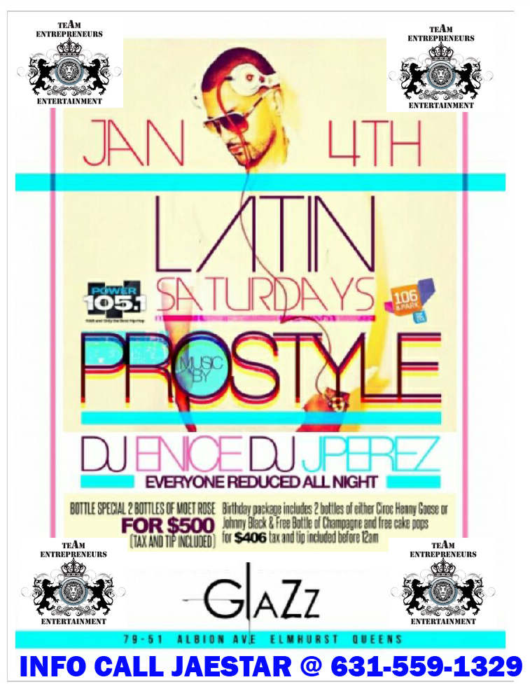 DJ PROSTYLE AT GLAZZ THIS SATURDAY