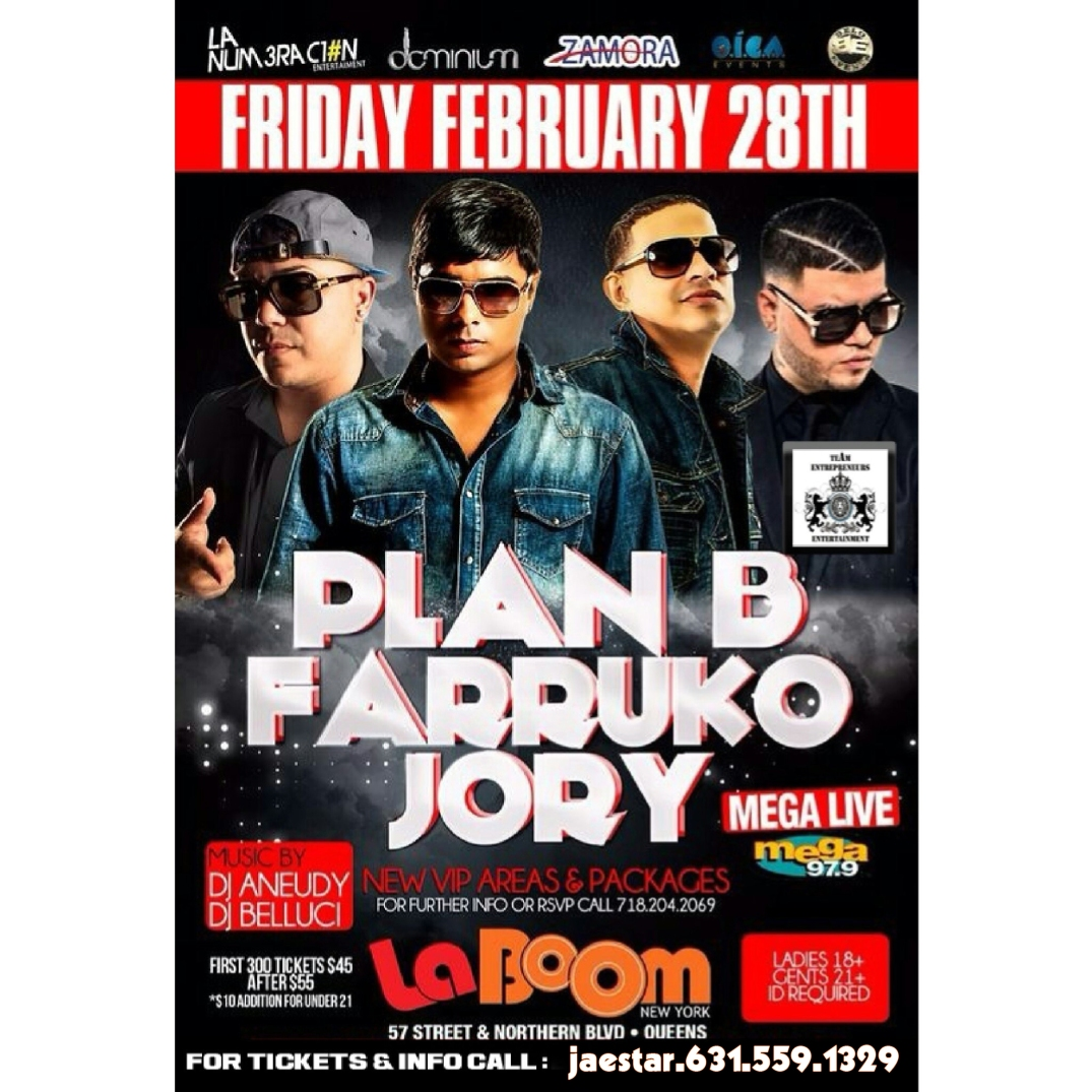 FRIDAY FEBRUARY 28TH !!! PLAN B.FAKURO Y JORY COMES TO LA BOOM !!