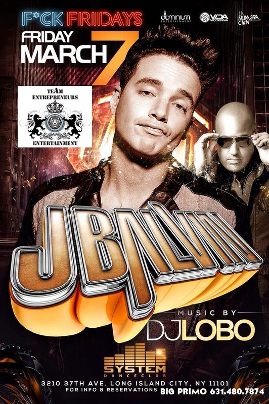 FRIDAY MARCH 7 !!! J.BALVIN COMES TO CLUB SYSTEM IN QUEENS !!! MUSIC BY DJ LOBO   GET YOU PRE-SALE TICKETS NOW !! ITS GOING TO BE FOR SURE A SOLD OUT EVENT !!!  PLEASE CALL US AT 631-559-1329