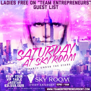 SKYROOM ROOFTOP IN NYC GUEST LIST / INFO