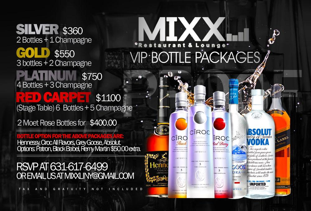 Bottle VIP  Packages