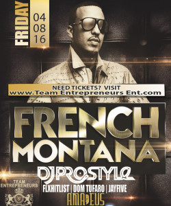 TONIGHT GET YOUR TICKETS ASAP TO SEE FRENCH MONTANA LIVE AT AMADEUS NIGHT CLUB IN QUEENS
